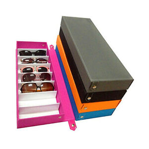 HD-8-Slot-Eyeglass-Storage-Box-Sunglasses-Case-Glasses-Display-Holder-Stand-Sig