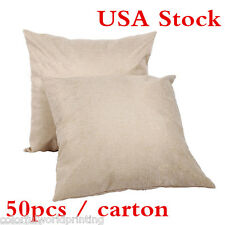 Usa 50pcs Linen Sublimation Heat Transfer Blank Pillow Case Cushion Pillow Cover