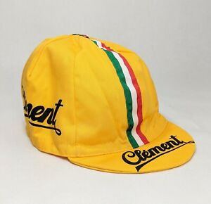 Cycling cap radmütze Vintage Retro Road Bike Fixed Single-Speed Bicycle Clement Yellow