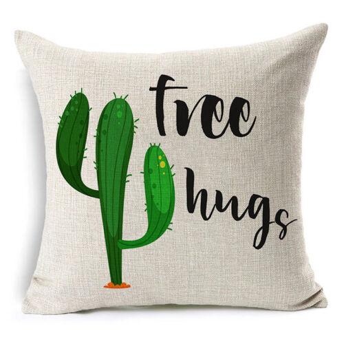 Comwarm Beige succulents Cactus Housse de Coussin Belle Tropical plante verte