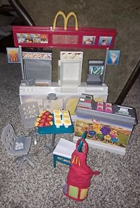 Barbie McDonalds Play Set Restaurant With Accessories And Furniture