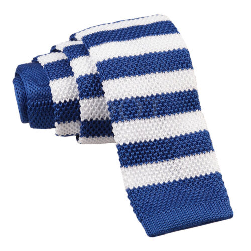 Evening Work Party Men/'s Knitted Polyester Single Striped Square Cut End Tie