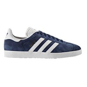 ADIDAS Gazelle Scarpe Retro Tempo Libero Sneaker Navy White ORO METALLIZZATO bb5478