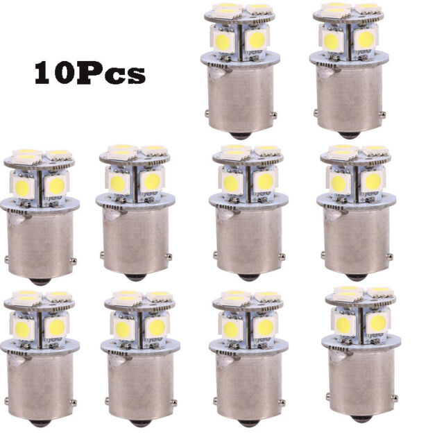 10 x Amber 24v LED BA15s 149 R5W 8 SMD Number Plate Interior Bulbs HGV Truck