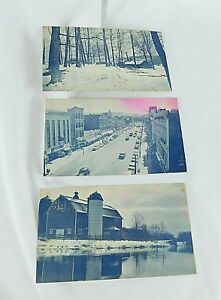 First-National-Bank-of-Cortland-County-NY-Vintage-Postcard-Lot-3-Historic-Scenes