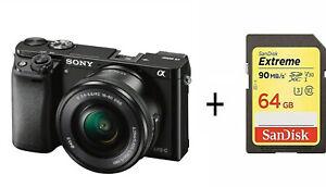 SONY-Alpha-A6000-compacts-camera-numerique-avec-objectif-16-50-mm-Noir-UK-Stock