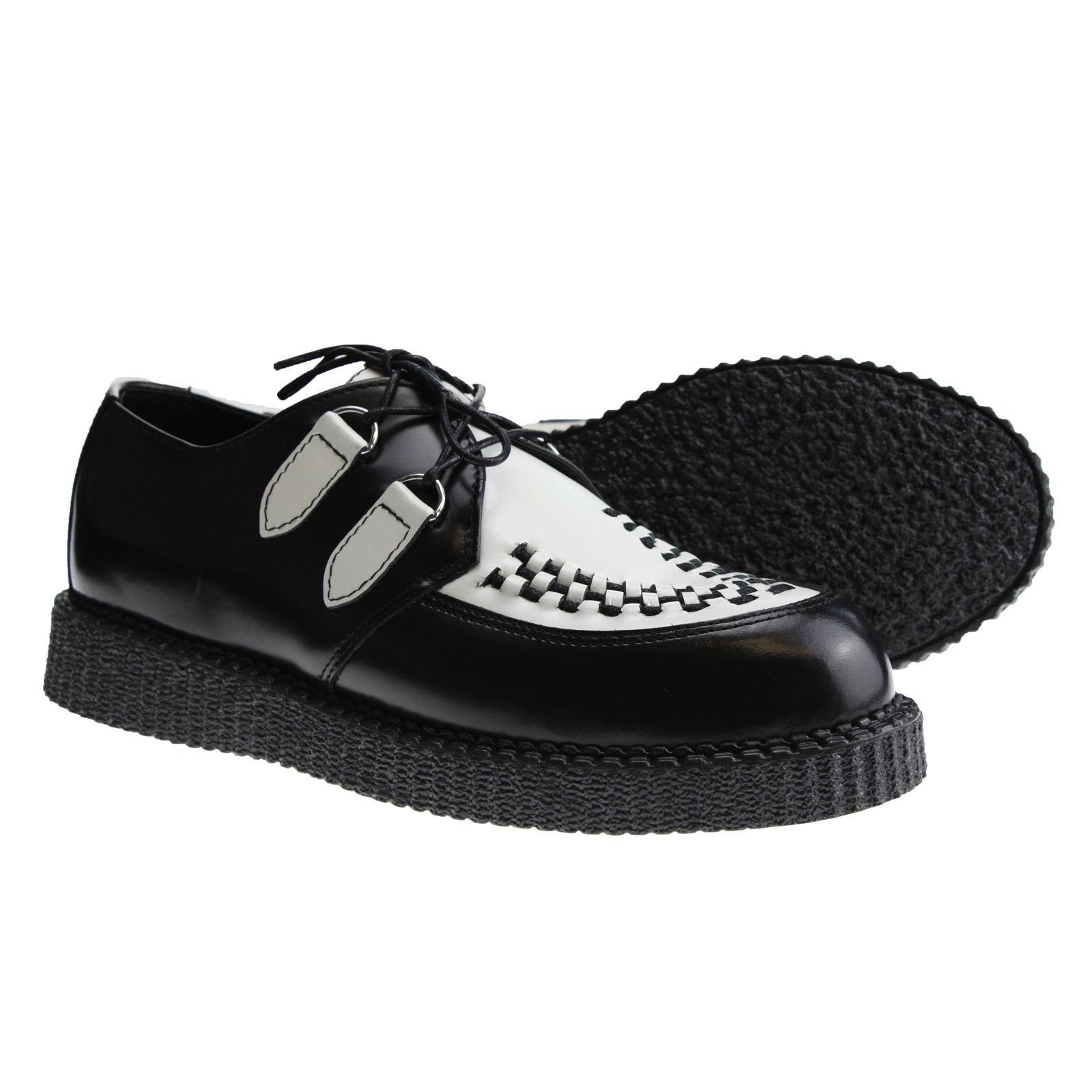 Stiefel and Braces Creeper New Schwarz Weiß Schuhe Creepers Leder Neu Halbschuhe     |  | Angemessene Lieferung und pünktliche Lieferung  | Spielen Sie auf der ganzen Welt und verhindern Sie, dass Ihre Kinder einsam sind