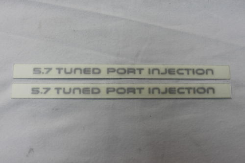 87-90 Camaro IROC Z28 5.7 TPI Rocker Decals Silver Pair