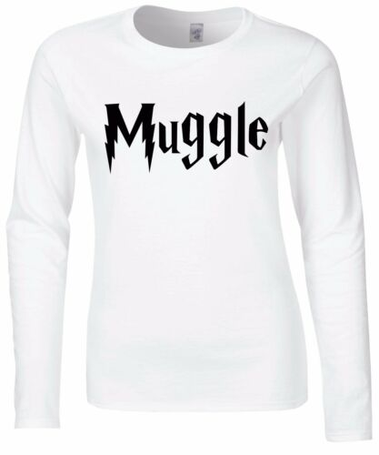 Muggle Womens Fitted Long Sleeve Tee T-Shirt