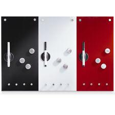 Glas Magnettafel m. Haken Whiteboard Wandtafel Memoboard Magnetwand Schreibtafel