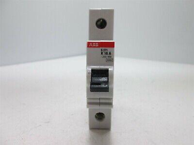 ABB S271 K16A Circuit Breaker VDE 0660 230//400 1-Pole 16 amp 277//480vac 16a Nnb