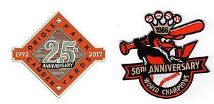 25TH ANNIVERSARY CAMDEN YARDS PATCH & 50TH ANNIVERSARY BALTIMORE ORIOLES PATCH