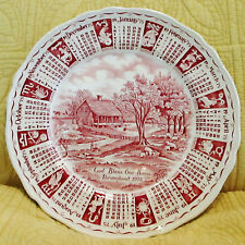 "9"" Plate Dish GOD BLESS OUR HOUSE THROUGHOUT 1975 Alfred Meakin England Red"