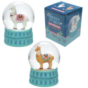 Alpaca-Glitter-Snow-Globe