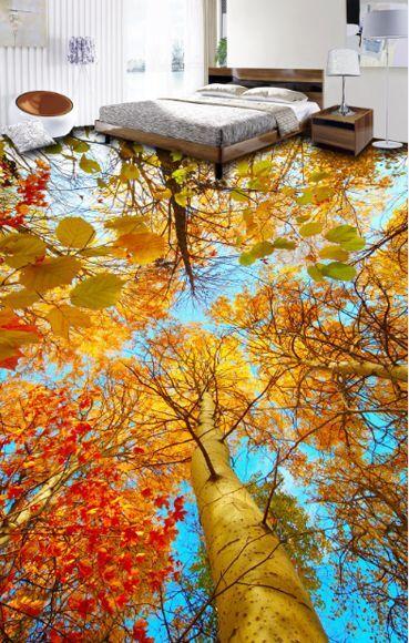 3D tree leaves autumn166 Floor WallPaper Murals Wall Print Decal 5D AJ WALLPAPER
