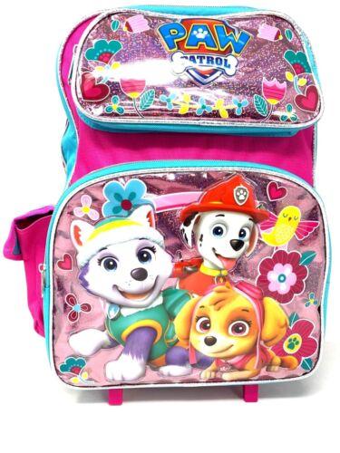 "Nickelodeon Paw Patrol PP  Girls Large 16/"" Rolling Backpack"