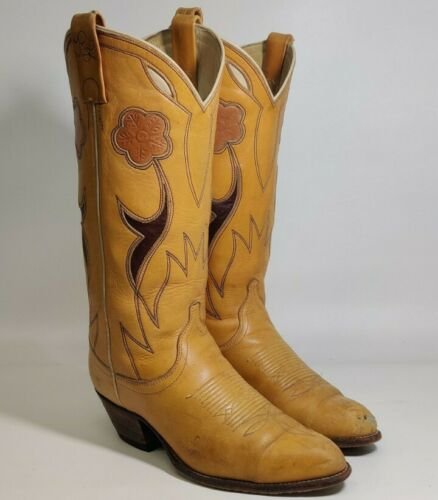 Ralph Lauren Selene Cowboy Boots Tan Leather Weste