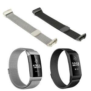Milanaise Armband Ersatz Fitbit Charge 3 & 4 Fitness Tracker Edelstahl Milanese