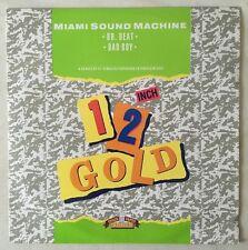"MIAMI SOUND MACHINE Dr Beat 12"" 2 Track B/w Bad Boy (og4078) Pic Sleeve UK Old G"