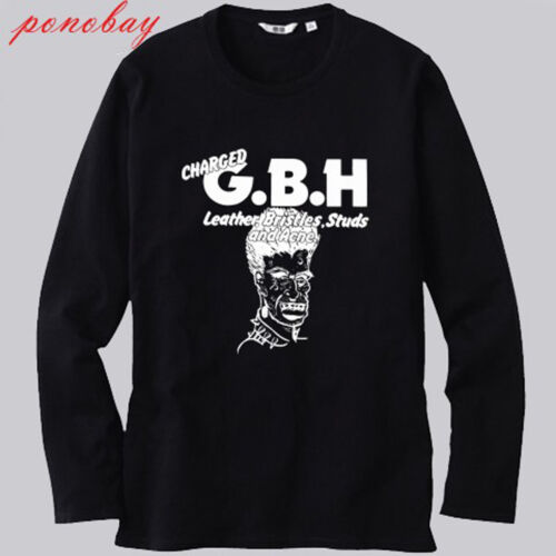 New Charged GBH Album Street Punk Band Long Sleeve Black T-Shirt Size S-3XL
