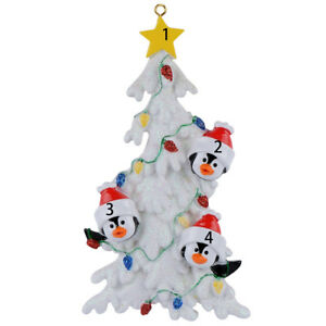 MAXORA-Personalized-Penguin-Family-Christmas-Tree-of-3-4-5-6-Ornaments