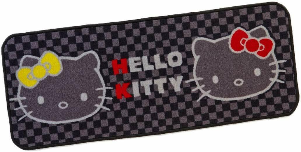 Hello Kitty Voiture Tapis Arrière Type de Long schwarz Carreaux Motif Sanrio Neuf