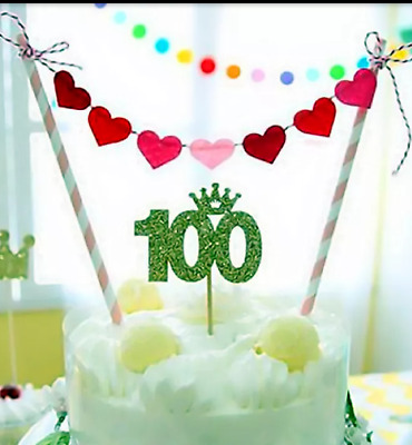 Excellent Hearts Happy Birthday Cake Topper Flags Bunting Banner Decorations Personalised Birthday Cards Paralily Jamesorg