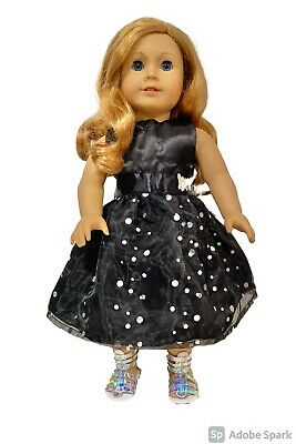 Doll Ball Gown American Girl Doll Clothes Our Generation Doll black Dress