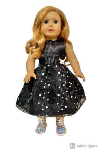 American Girl Doll Clothes Our Generation Doll Ball Gown Doll black Dress
