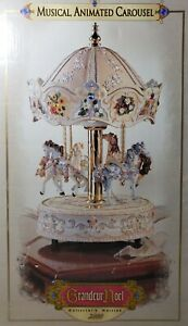 Grandeur-Noel-Collector-039-s-Edition-Musical-Animated-Carousel