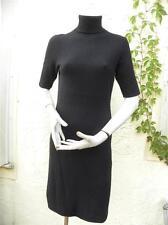 MAGASCHONI 100% CASHMERE BLACK TURTLENECK DRESS SZ M