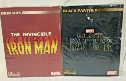 IN STOCK! NEW Mezco ONE:12 COLLECTIVE BLACK PANTHER + IRON MAN (2-SET) LOT