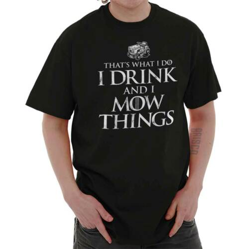I Drink And I Know Things Dad Lawn Mower Father GOT Tyrion T Shirt Tee For Men