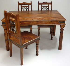 Mercers Furniture Indian Jali 135cm Dining Table And 4 Chairs EBay