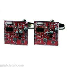CUFFLINKS RED Printed Circuit Board Electrician IT SUPPORT WORKER Present GIFT