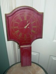 Seth Thomas Red Wood Wall Clock Model E643-000