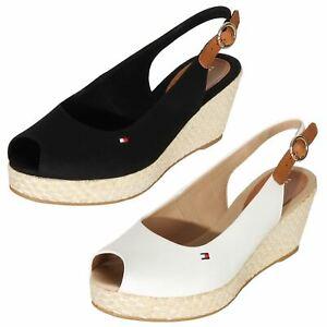 new product dcfe1 9972b Details zu Tommy Hilfiger Damen Schuhe Elba Keilsandaletten Wedges Sandalen  Slingbacks