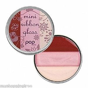 LOT-OF-2-Pop-Beauty-Mini-Ribbon-Gloss-Lip-Gloss-PEONY-PINK-New-amp-Sealed