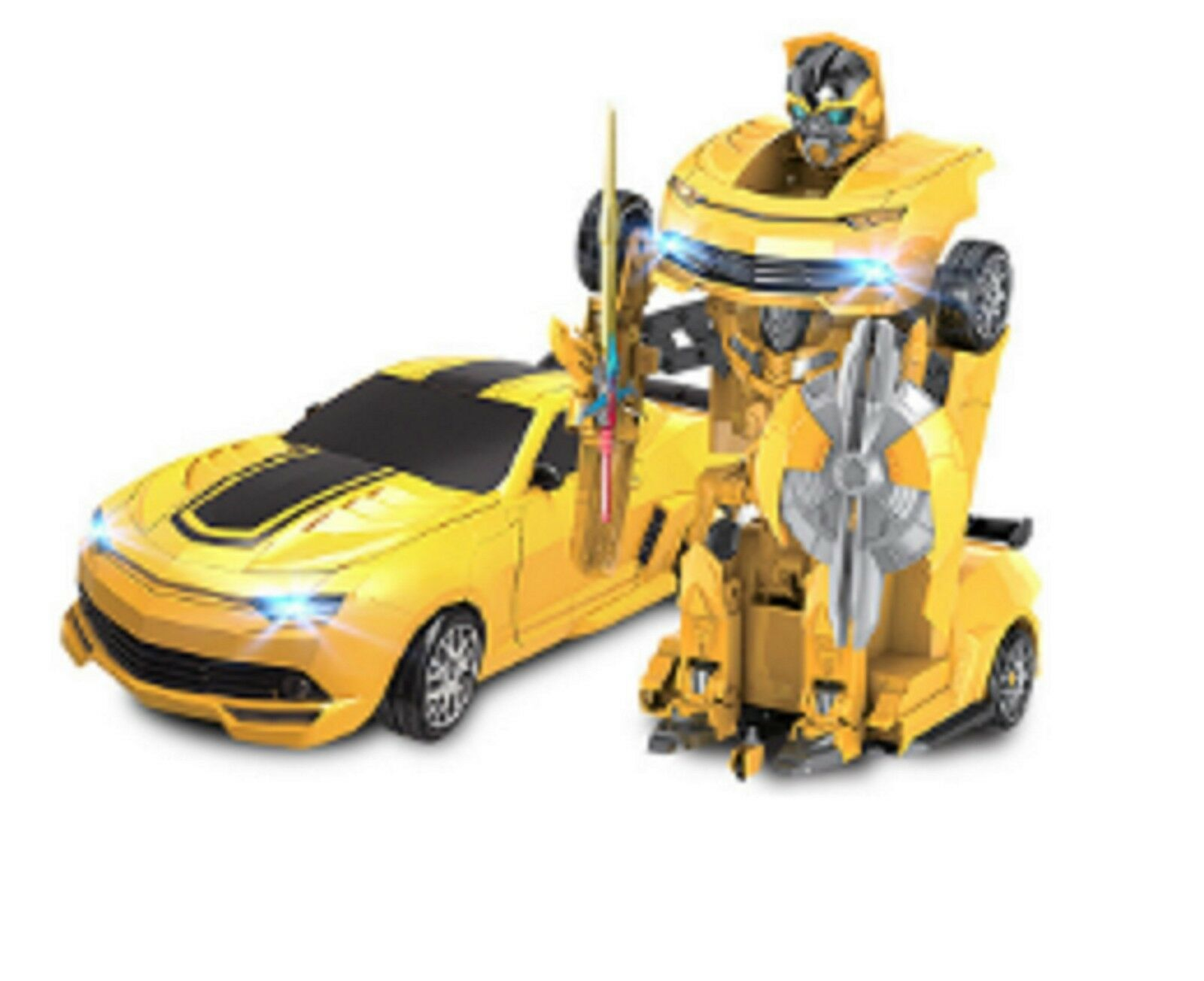 MZ Transformers 2313X RC IR Warrior Bumblebee Ages 8 Remote Control Robot auto