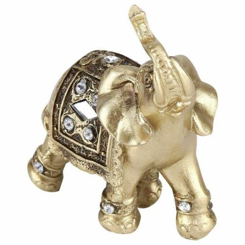 Elephant Statue Ornament Figurine Vintage Resin Crafts For Home Decor Sculpture