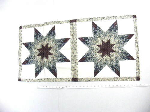 "Two Pillow Panel,/""Starlast Hunter /& Burgundy/"",35/"" X 17 1//2/"",Cotton Blend Mtrl"