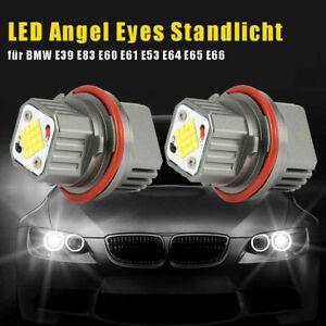 Pair-CREE-240W-LED-Angel-Eyes-Standlicht-fuer-BMW-E39-E83-E60-E61-E53-E64-E65-E66