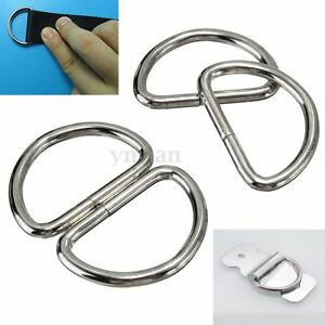 10x-Metal-25mm-D-Ring-D-rings-Purse-Buckles-For-Clothes-Bag-Case-Strap-Web-Belt