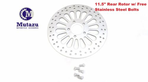 "11.5/"" Super Spoke Rear Brake Rotor Disc w// SS Bolts /& Spacer 1984-2013 Harley"