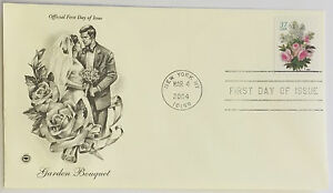 100-USPS-PCS-Garden-Bouquet-2004-37c-Stamp-FDC-3836-First-Day-Issue-NEW