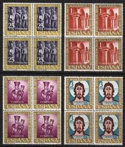 1961-EDIFIL-1365-68-NUEVOS-SIN-FIJASELLOS-BLOQUE-DE-CUATRO-ROMANICO