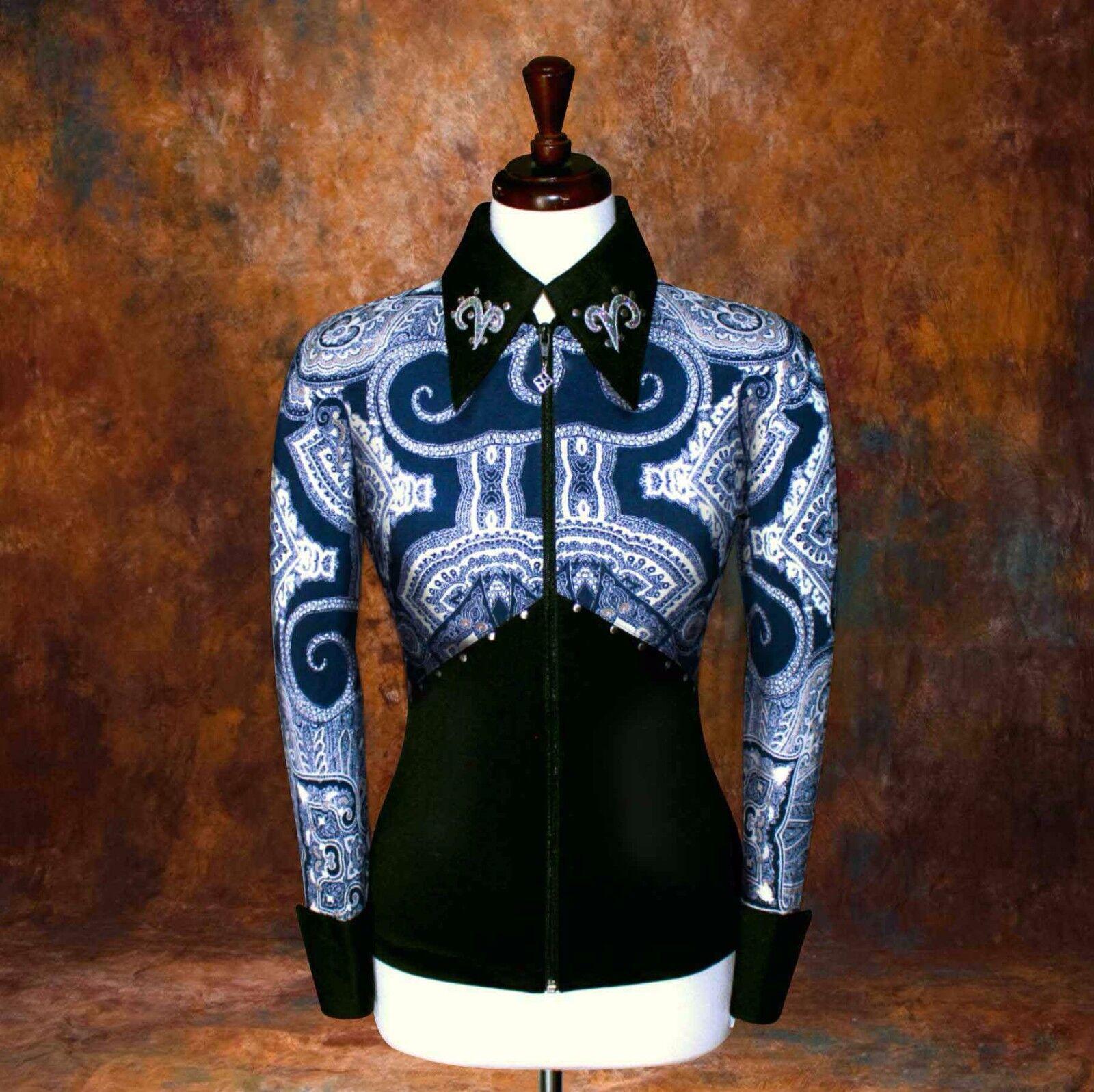 2X-LARGE  Showmanship Pleasure Horsemanship Show Jacket Rail Shirt Rodeo Queen
