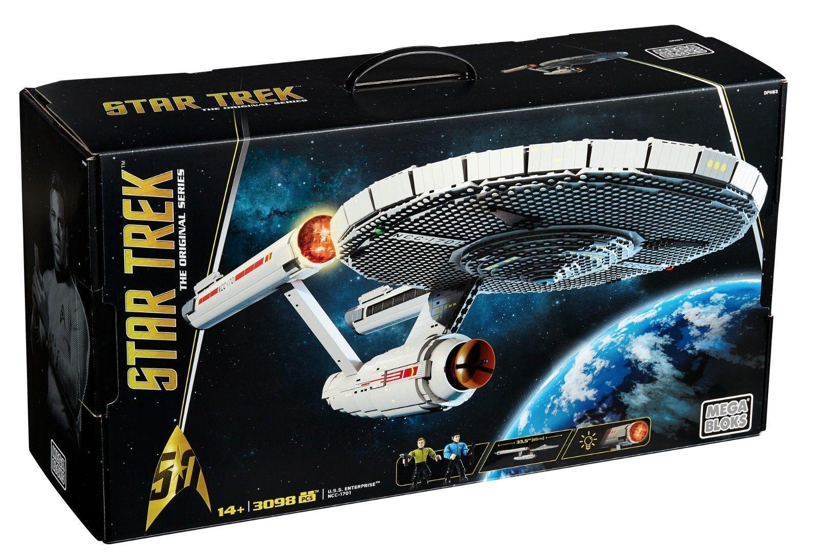 Mega Mega Mega Bloks Star Trek U.S.S. Enterprise NCC-1701 3098 Pieces Collectors Set New dc848e