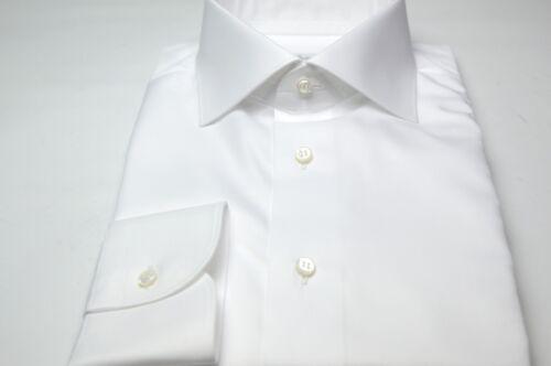 Eu Feqwrbsw Se51 Maat 5 100 15 Nieuw White Brioni 39 Overhemd Us Katoen m8wvn0NO