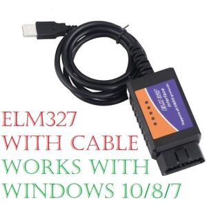 Details about ELM327 OBD2 USB Interface Cable SCANNER RESET TOOL with FREE  WINDOWS SOFTWARE